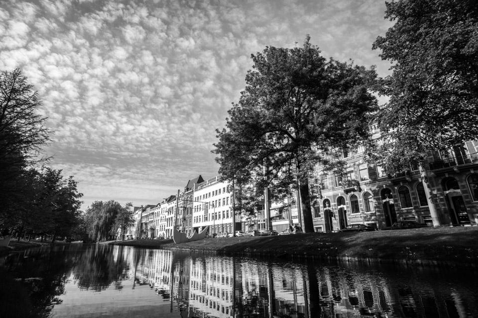 Westersingel in Rotterdam zwart wit foto zw010