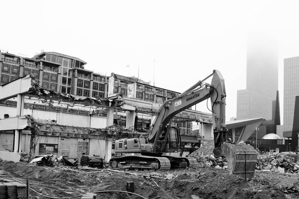 @ZW010 - 01 First Rotterdam foto zwart wit
