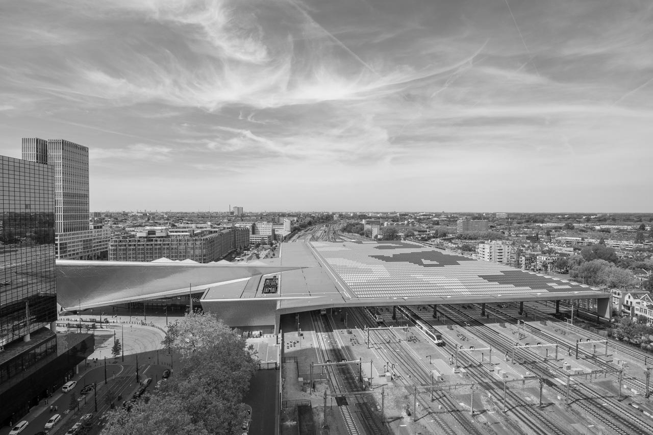 Central post in Rotterdam | Zwart Wit foto