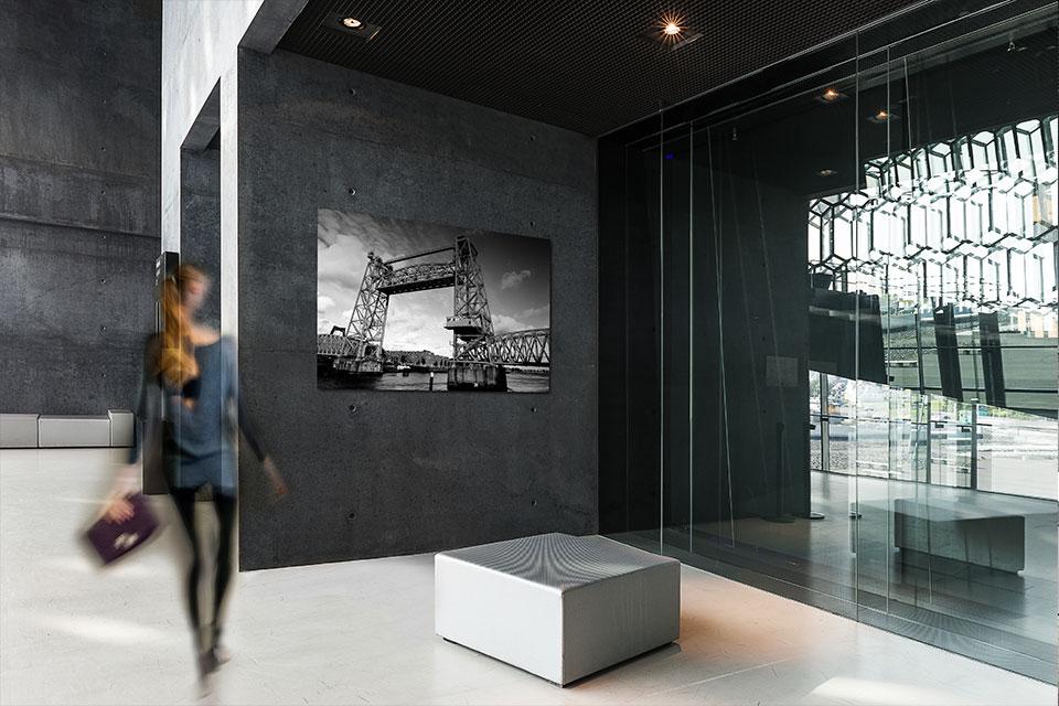 Rotterdam De Hef zwart wit fotografie voor op kantoor - bedrijfsfotografie